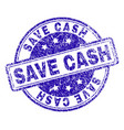 scratched textured save cash stamp seal vector image vector image