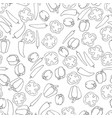 seamless pattern background with peppers vector image vector image
