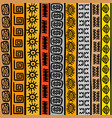 seamless pattern with ethnic african motifs vector image vector image