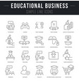 set line icons educational business vector image