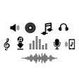 set music icon in flat for smart phone app vector image vector image