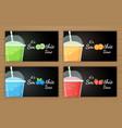 set of fruit smoothie cocktail logo vector image