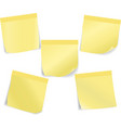 Set of stick notes vector image