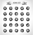 Set of web plat icons on blur vector image vector image