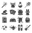 simple set of magic related icons vector image