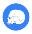 Skull icon in black style isolated on white vector image vector image