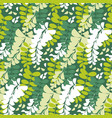 spring acacia blossom seamless pattern vector image vector image