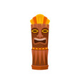 tiki god carved wooden statue symbol of hawaii vector image vector image