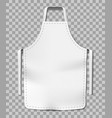 white blank kitchen chef apron isolated on vector image