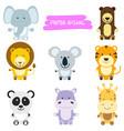 wild animals cartoon vector image vector image