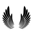 wings black silhouette tattoo templete design vector image