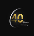 years anniversary logotype with golden linear