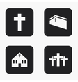 modern religion icons set vector image