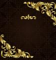 ornate gold border vector image