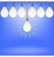 Set of Bulbs vector image