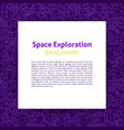 space exploration paper template vector image
