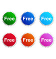 free label vector image