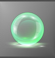 3d green sphere of transparent vector image vector image