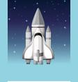 a rocket in sky vector image