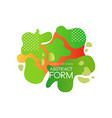 abstract form logo design brand identity element vector image vector image