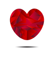 Abstract red heart geometrical vector image