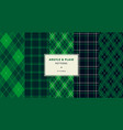 argyle and plaid pattern collection vector image vector image