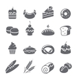 Baking Icons Black vector image