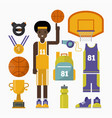 basketball game competition elements sport vector image