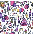 Birthday party time seamless pattern vector image vector image