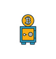 bitcoin storage icon set four elements in vector image vector image