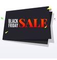 Black Friday sale banner with flying colored vector image vector image