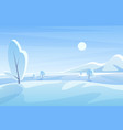 blue winter landscape flat vector image vector image