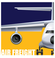 cargo air transportation vector image