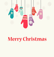 Christmas background with Mittens - vector image