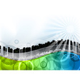city on the abstract wave vector image vector image