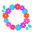 colorful floral wreath vector image
