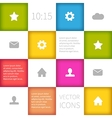 colorful squared infographic concept design vector image