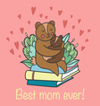 cute bears and Best mom ever words vector image