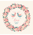 Cute wedding invitation vector image