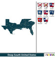 deep south united states vector image vector image