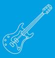electric guitar icon outline style vector image vector image