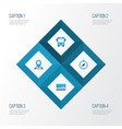 exploration colorful icons set collection of vector image