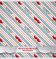 fathers day seamless red-green pattern background vector image