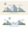 Flat mountain landscape vector image