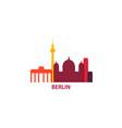germany berlin skyline vector image vector image