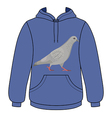 Going gray pigeon hoodie sweater vector image vector image