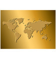 golden background with map of the world vector image