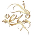 golden new year 2012 vector image vector image