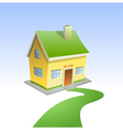 Green road to house vector image
