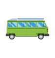 Green travel car vector image